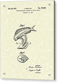 Radiator Ornament 1937 Patent Art Acrylic Print