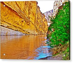 Rafting In Santa Elena Canyon In Big Bend National Park-texas Acrylic Print