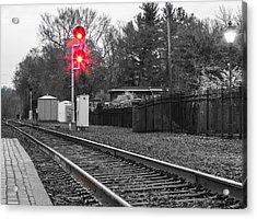 Rail Road Tracks Acrylic Print