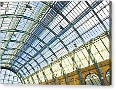 Railway Station Roof Acrylic Print by Tom Gowanlock