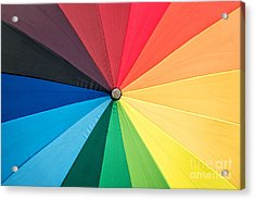 Rainbow Acrylic Print by Delphimages Photo Creations