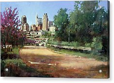Raleigh Summer Skyline Acrylic Print