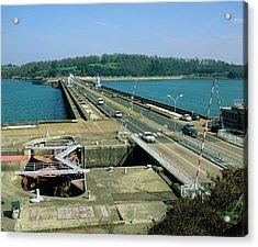 Rance Tidal Power Barrage Acrylic Print by Martin Bond/science Photo Library