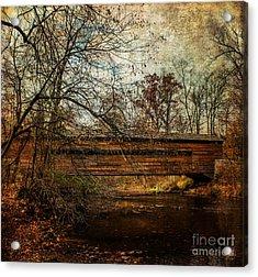 Rapps Dam Covered Bridge Acrylic Print by Judy Wolinsky