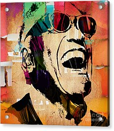Ray Charles Collection Acrylic Print by Marvin Blaine