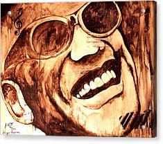 Ray Charles Acrylic Print by Hugo C Aguilar