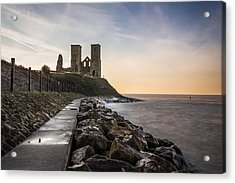 Reculver Towers Acrylic Print by Ian Hufton