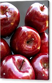 Acrylic Print featuring the photograph Red Apples by Helene U Taylor