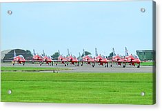 Red Arrows Acrylic Print by James Lucas