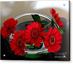 Red Flowers. Special Acrylic Print