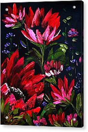 Red Flowers Acrylic Print by Shirwan Ahmed