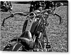 Acrylic Print featuring the photograph Red Harley Davidson by Wilma  Birdwell