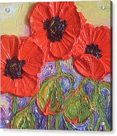 Red Poppies Acrylic Print by Paris Wyatt Llanso