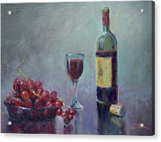Red - Red Wine Acrylic Print by Ron Wilson