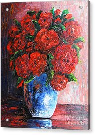 Acrylic Print featuring the painting Red Scent by Vesna Martinjak