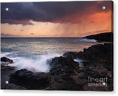 Red Storm Rising Acrylic Print by Mike  Dawson