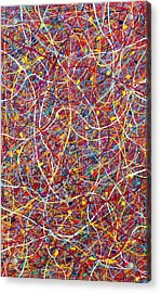 Red String Theory Acrylic Print by Patrick OLeary