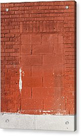 Red Wall With Immured Door Acrylic Print
