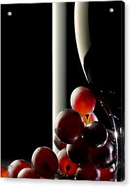 Red Wine With Grapes Acrylic Print