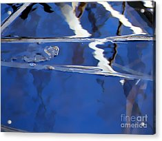 Reflections Blue Acrylic Print