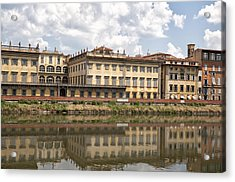 Reflections In The Arno River Acrylic Print by Melany Sarafis