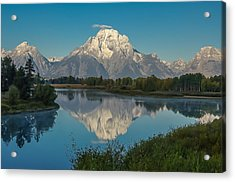 Reflections Of Mount Moran Acrylic Print