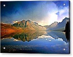 Reflections On Lake Mcdonald Acrylic Print by Marty Koch