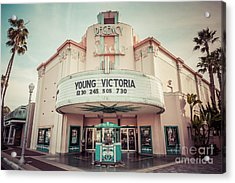Regency Lido Theater Newport Beach Picture Acrylic Print by Paul Velgos