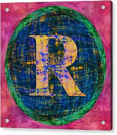 Registered Trademark Symbol Acrylic Print by Gregory Scott