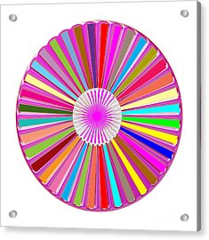 Colorful Signature Art Chakra Round Mandala By Navinjoshi At Fineartamerica.com Rare Fineart Images  Acrylic Print by Navin Joshi