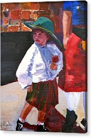 Acrylic Print featuring the painting Renaissance Boy by MaryAnne Ardito