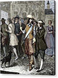 Rene Descartes And Isaac Beeckman Acrylic Print