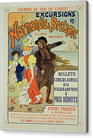 Reproduction Of A Poster Advertising Acrylic Print by Georges Meunier