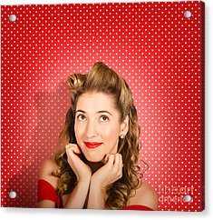 Retro Pinup Model. Beauty And Fashion Copyspace Acrylic Print by Jorgo Photography - Wall Art Gallery