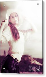 Retro Summer Woman Acrylic Print
