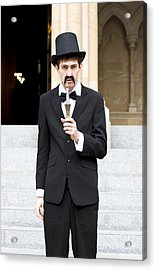 Reverend With The Candle Stick Acrylic Print