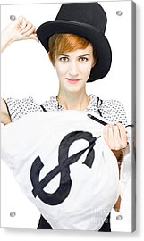 Rich Wealthy Female Banker Acrylic Print by Jorgo Photography - Wall Art Gallery