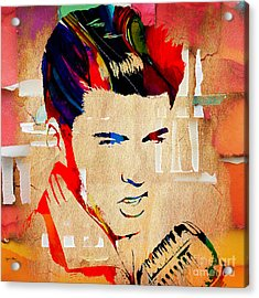 Ricky Nelson Collection Acrylic Print by Marvin Blaine