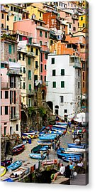 Acrylic Print featuring the photograph Riomaggiore - Cinque Terre Italy by Carl Amoth