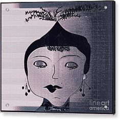Rita Acrylic Print by Iris Gelbart