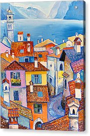 Riva Del Garda Acrylic Print by Mikhail Zarovny