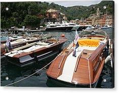 Riva Portofino Acrylic Print by Steven Lapkin