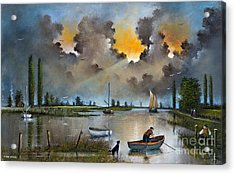 River Yare On The Broads Acrylic Print