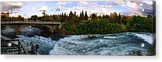 Riverflow Acrylic Print by Dan Quam