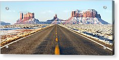 Road Lead Into Monument Valley Acrylic Print by King Wu