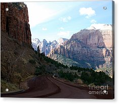 Road Through Zion National Park Acrylic Print