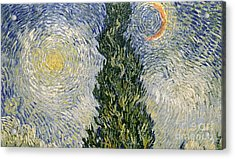 Road With Cypresses Acrylic Print by Vincent Van Gogh
