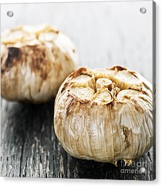 Roasted Garlic Bulbs Acrylic Print by Elena Elisseeva