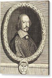 Robert Nanteuil French, 1623 - 1678, Cardinal Jules Mazarin Acrylic Print