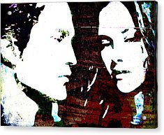 Acrylic Print featuring the mixed media Robsten by Svelby Art